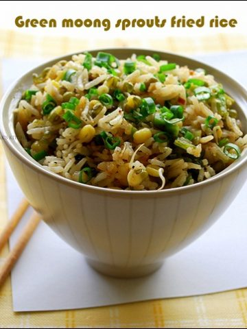 green gram sprouts fried rice